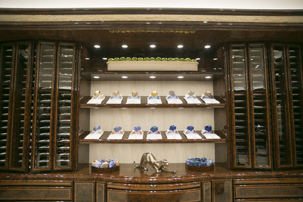 Dress shirts and neckties at The Shops at Crystals on Monday, June 12, 2017 in Las Vegas, Nevada. Shoppers like musicians, business executives and foreign royals can shop away from the general pub ...