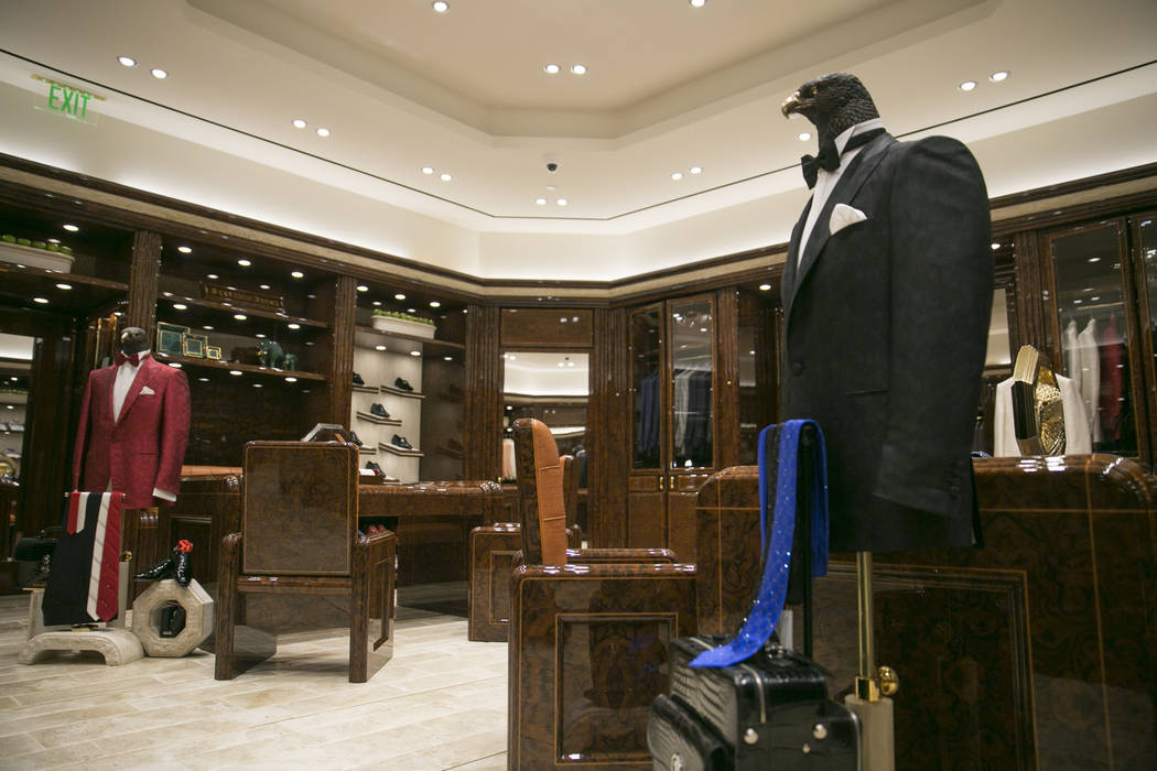 The Stefano Ricci VIP room at The Shops at Crystals on Monday, June 12, 2017 in Las Vegas, Nevada. Shoppers like musicians, business executives and foreign royals  can shop away from the general p ...