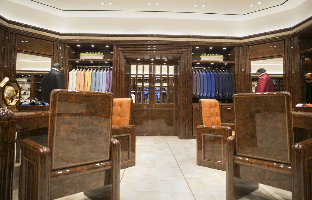 The Stefano Ricci VIP room at The Shops at Crystals on Monday, June 12, 2017 in Las Vegas, Nevada. Shoppers like musicians, business executives and foreign royals can shop away from the general pu ...
