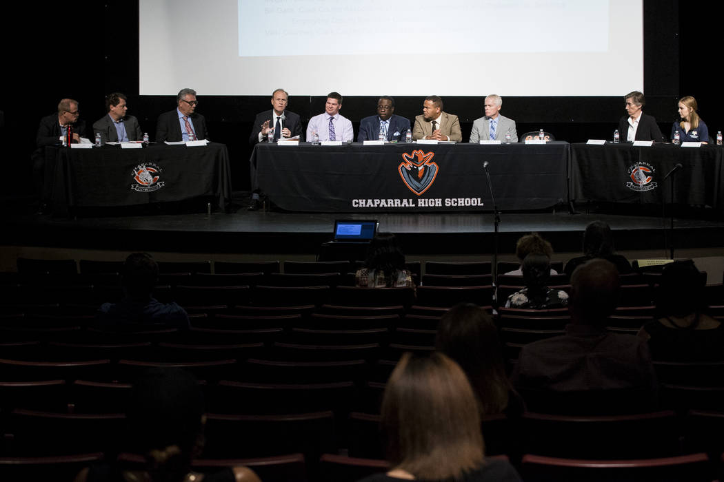 A Clark County School District roundtable forum at Chaparral High School on Thursday, June 15, 2017 in Las Vegas. Erik Verduzco/Las Vegas Review-Journal675trfdcx zzz