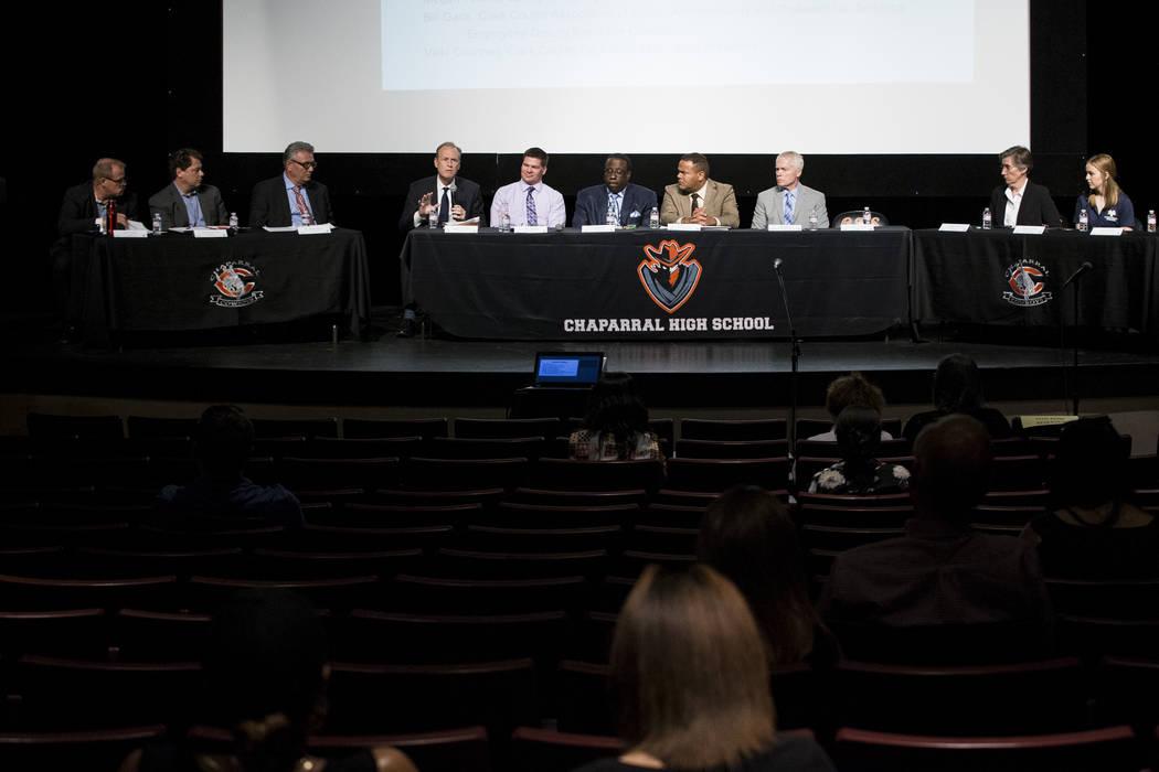A Clark County School District roundtable forum at Chaparral High School on Thursday, June 15, 2017 in Las Vegas. Erik Verduzco/Las Vegas Review-Journal675trfdcx zzz