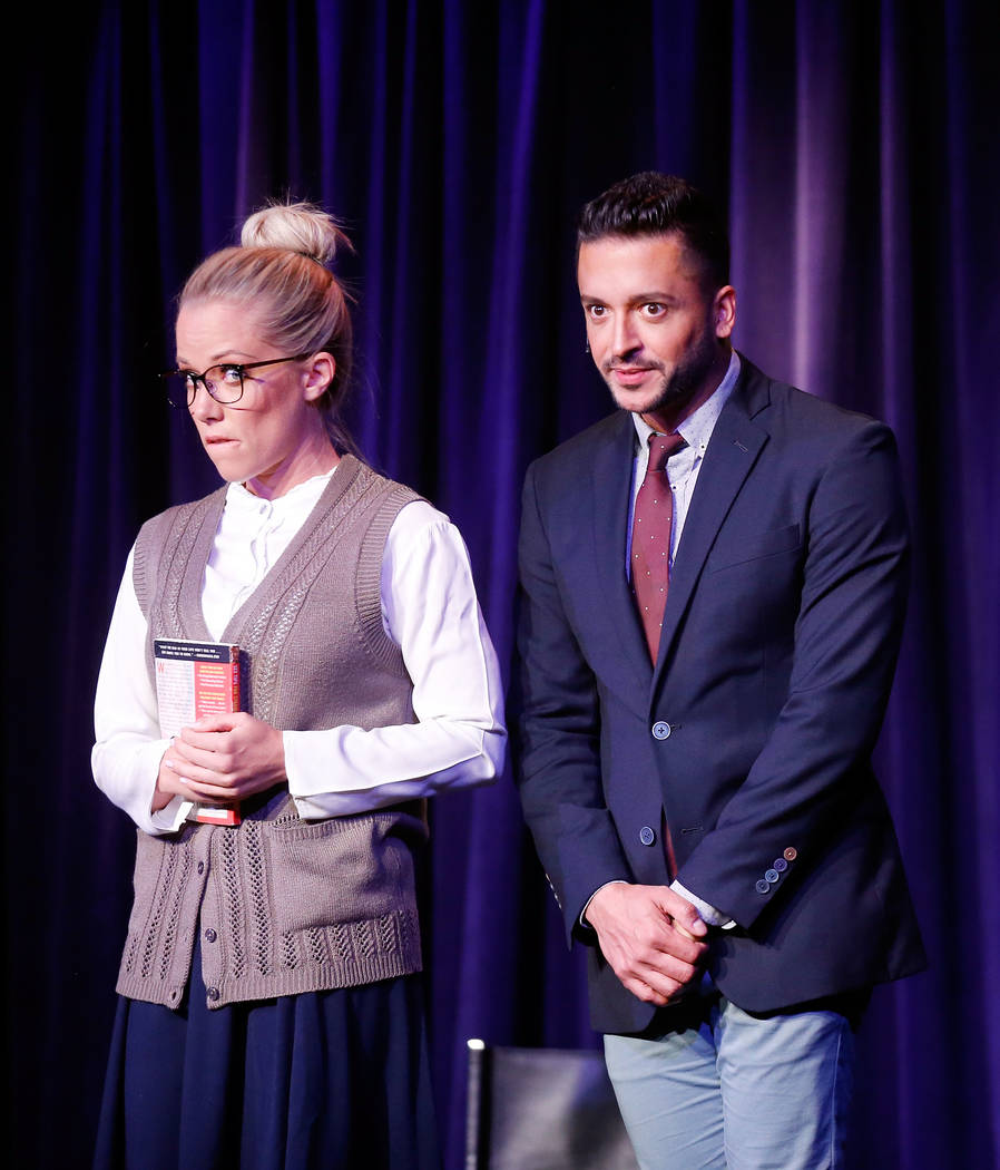 "LAS VEGAS, NV - JUNE 08:  Kedra Wilkinson, (R) and Jai Rodriguez perform during ""Sex Tips for Straight Women from a Gay Man"" on June 8, 2017 in Las Vegas, Nevada.  (Photo by Isaa ..."