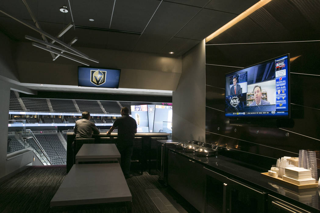 People check out a premium suite at the T-Mobile Arena in Las Vegas, Tuesday, June 13, 2017. Gabriella Angotti-Jones Gabriella Angotti-Jones Las Vegas Review-Journal @gabriellaangojo