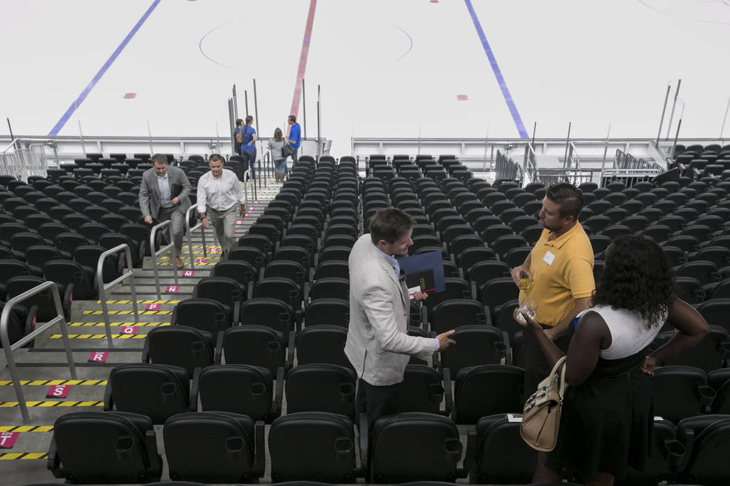 Customers shop for Glass seats at the T-Mobile Arena in Las Vegas, Tuesday, June 13, 2017. Gabriella Angotti-Jones Gabriella Angotti-Jones Las Vegas Review-Journal @gabriellaangojo