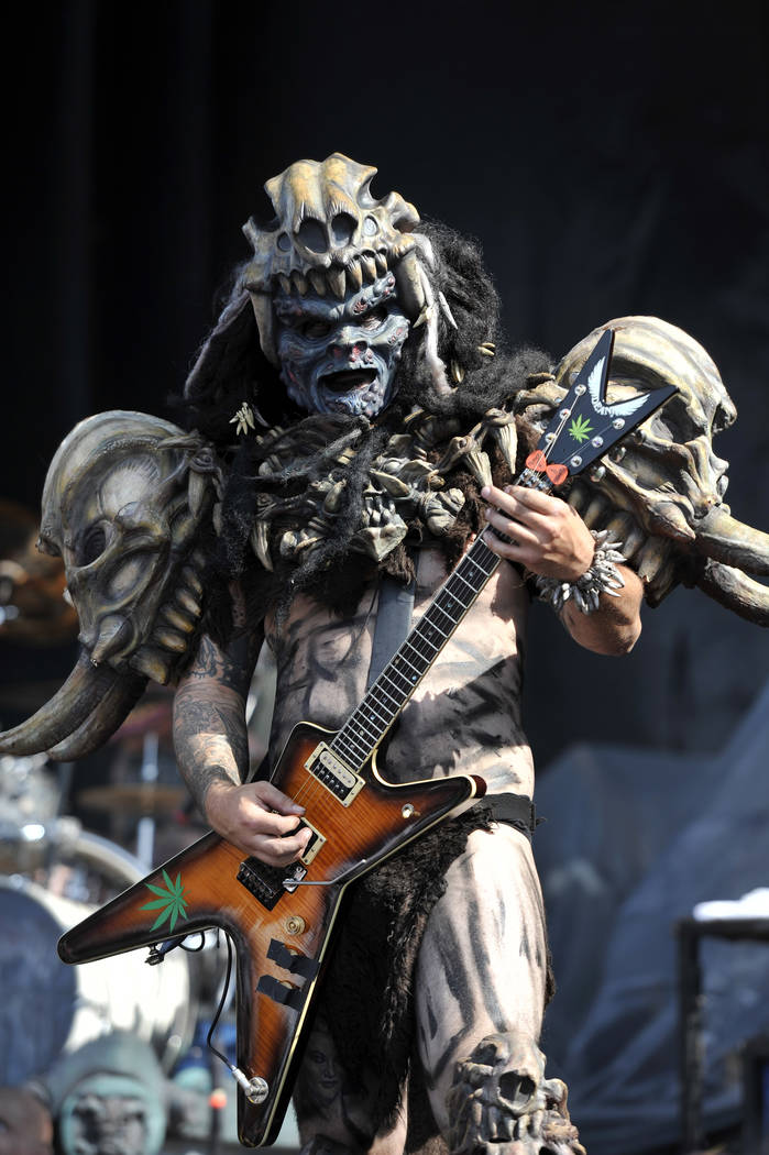 Brent Purgason aka Pustulus Maximus of GWAR performs at Riot Fest & Carnival at Douglas Park on Friday, Sept. 16, 2016, in Chicago. (Photo by Rob Grabowski/Invision/AP)