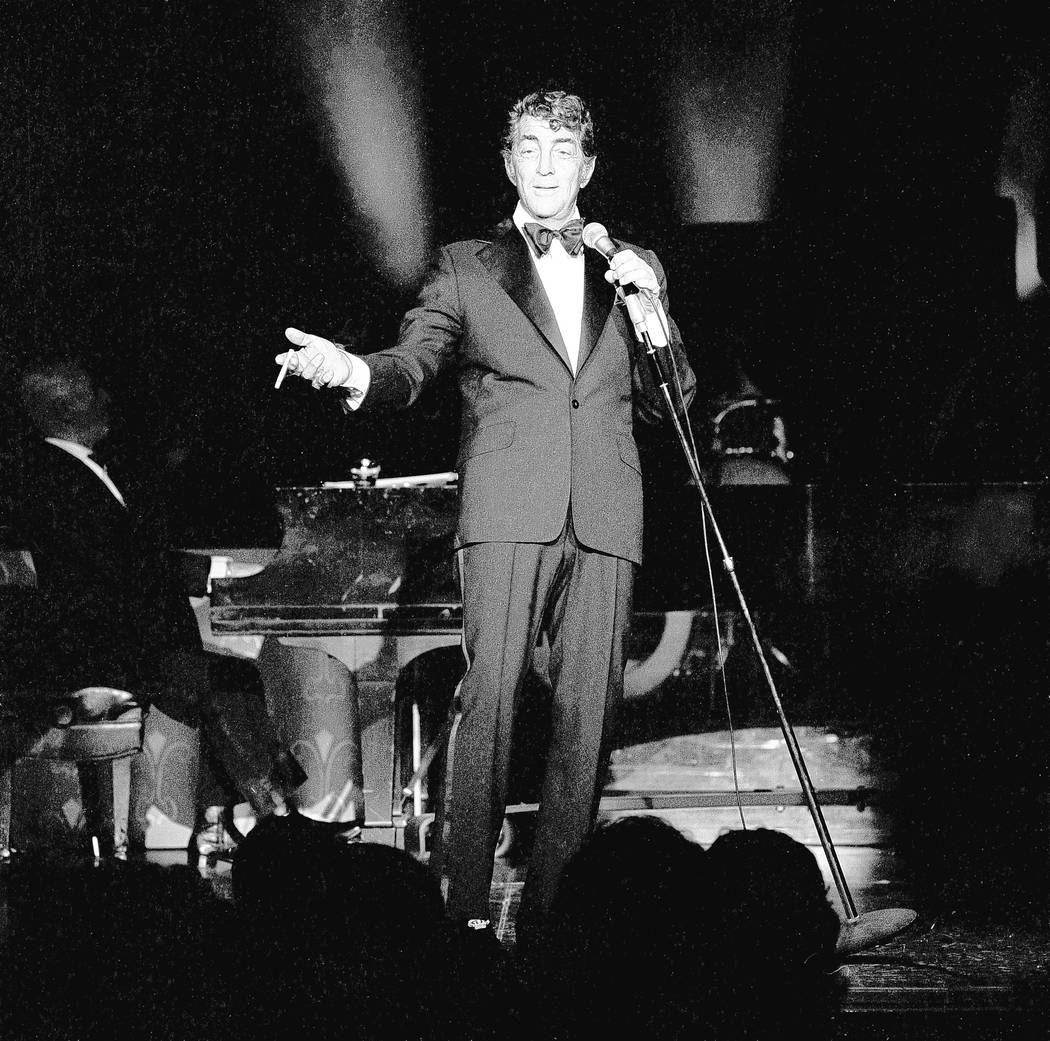 Dean Martin performs at the MGM February 21, 1978, in Las Vegas. CREDIT: Lee McDonald/Las Vegas News Bureau
