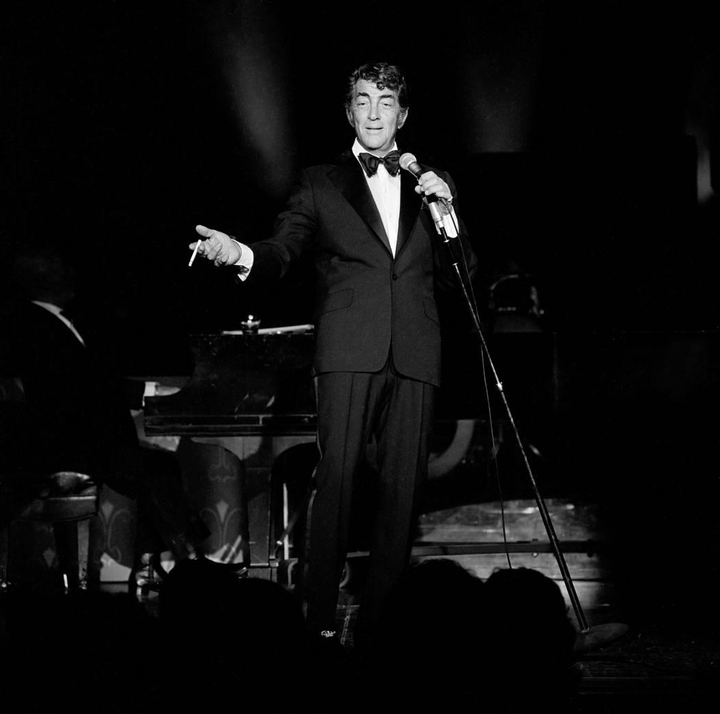 Dean Martin performs at the MGM Feb. 21, 1978. (Lee McDonald/Las Vegas News Bureau)