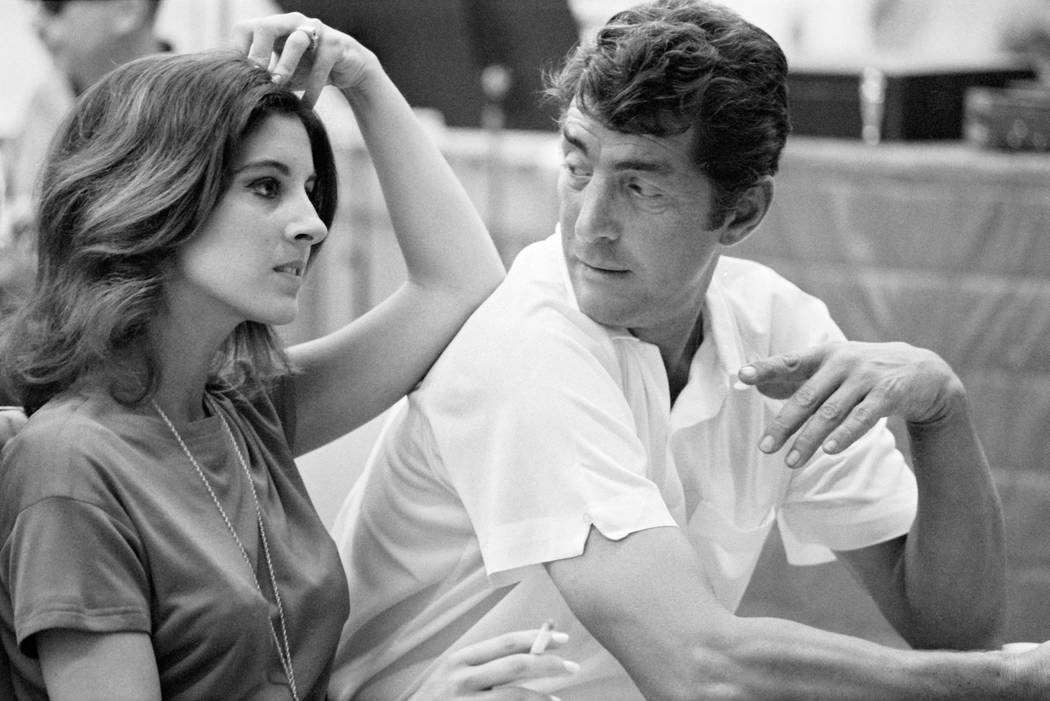 Dean Martin with daughter Deana at a recording session August 1966 1978 Ed Thrasher