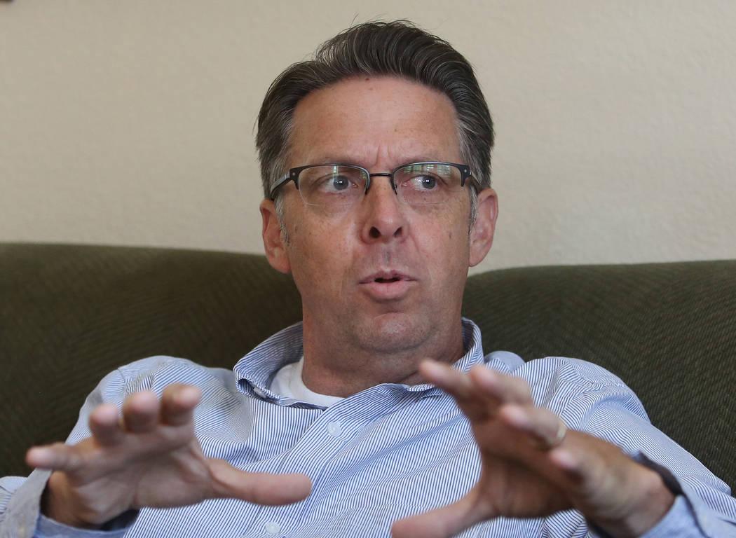 North Las Vegas Ward 3 candidate Scott Black during an interview at his North Las Vegas home on Tuesday, May 16, 2017. (Bizuayehu Tesfaye/Las Vegas Review-Journal) @bizutesfaye