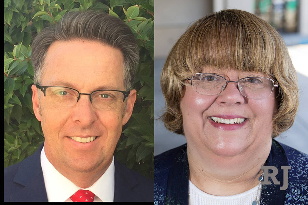 Scott Black, left, and Anita Wood, right (Las Vegas Review-Journal)