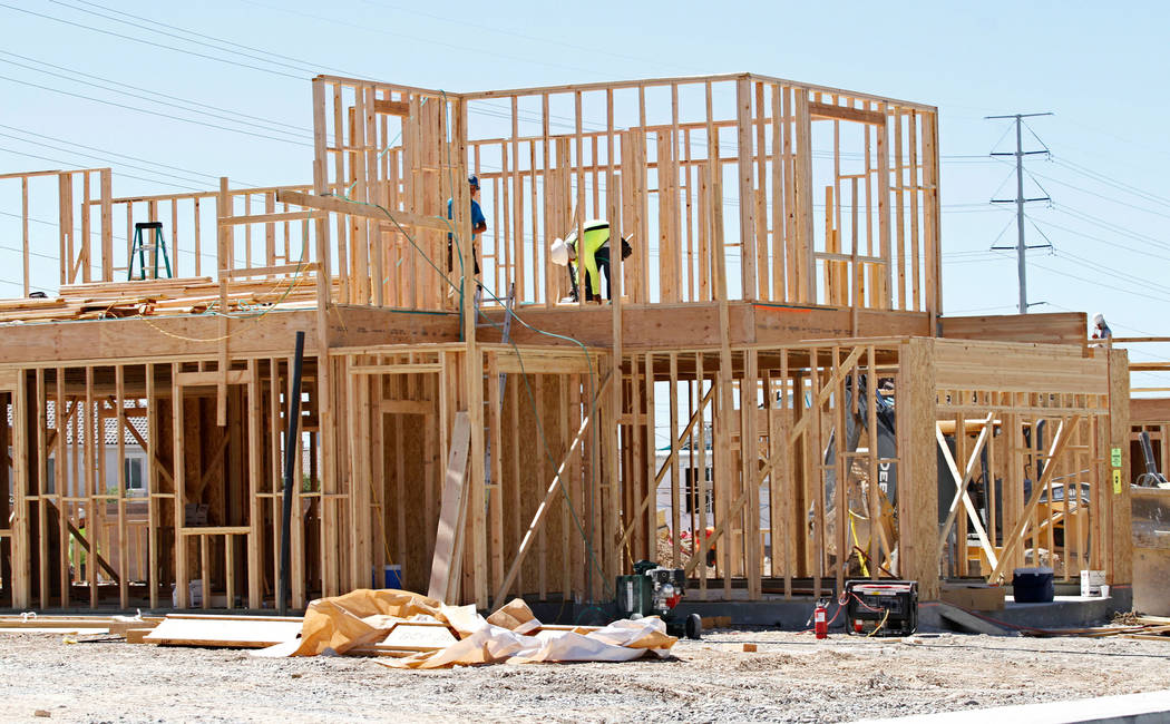 A house under construction at Falcon Ridge community in North Las Vegas, Wednesday, April 4, 2012. Chitose Suzuki Las Vegas Review-Journal @chitosephoto