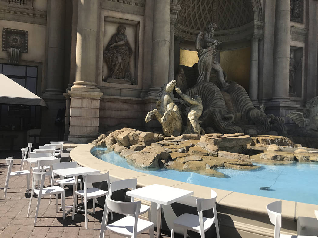 The patio area of The Other Room at Forum Shops at Caesars. Al Mancini Las Vegas Review-Journal