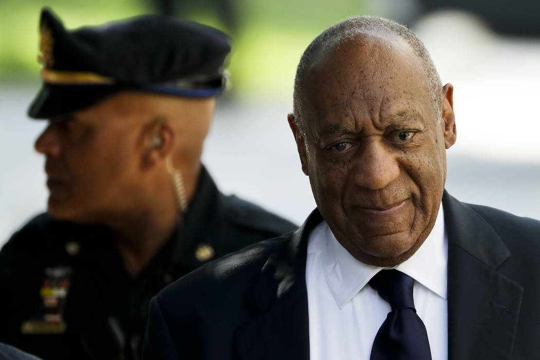 Bill Cosby arrives for his sexual assault trial at the Montgomery County Courthouse, Tuesday, June 13, 2017, in Norristown, Pa. (Matt Slocum/AP)