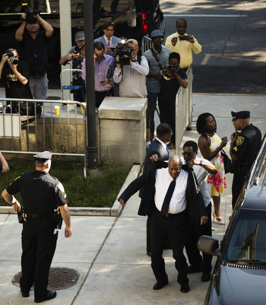 Bill Cosby arrives for his sexual assault trial at the Montgomery County Courthouse in Norristown, Pa., Tuesday, June 13, 2017. (Matt Rourke/Pool, AP)