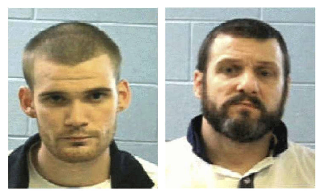 This photo combo shows an undated photo by the Georgia Department of Corrections Tuesday, June 13, 2017, shows inmate Ricky Dubose, left, and Donnie Russell Rowe.  Authorities say Dubose and Rowe  ...