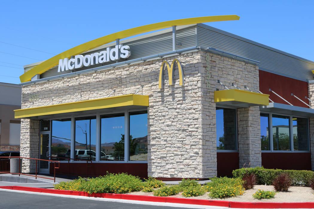 McDonald's on Blue Diamond Road and Durango Drive in Las Vegas on Tuesday, June 13, 2017. (Rio Lacanlale/Las Vegas Review-Journal) @riolacanlale