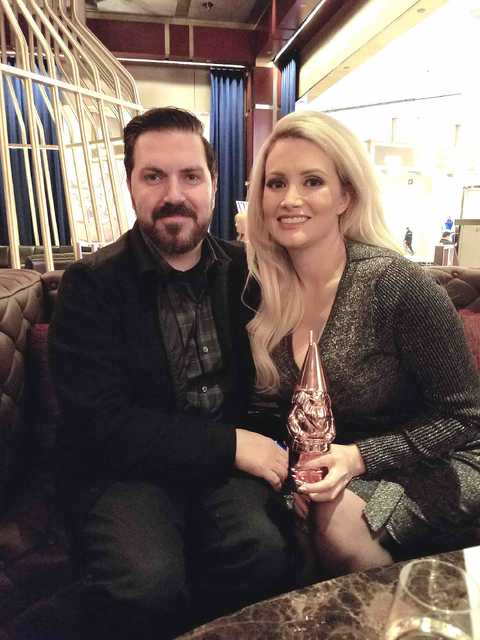 Pasquale Rotella and Holly Madison at The Dorsey at The Venetian on Thursday, Jan. 26, 2017, in Las Vegas. (TVT)