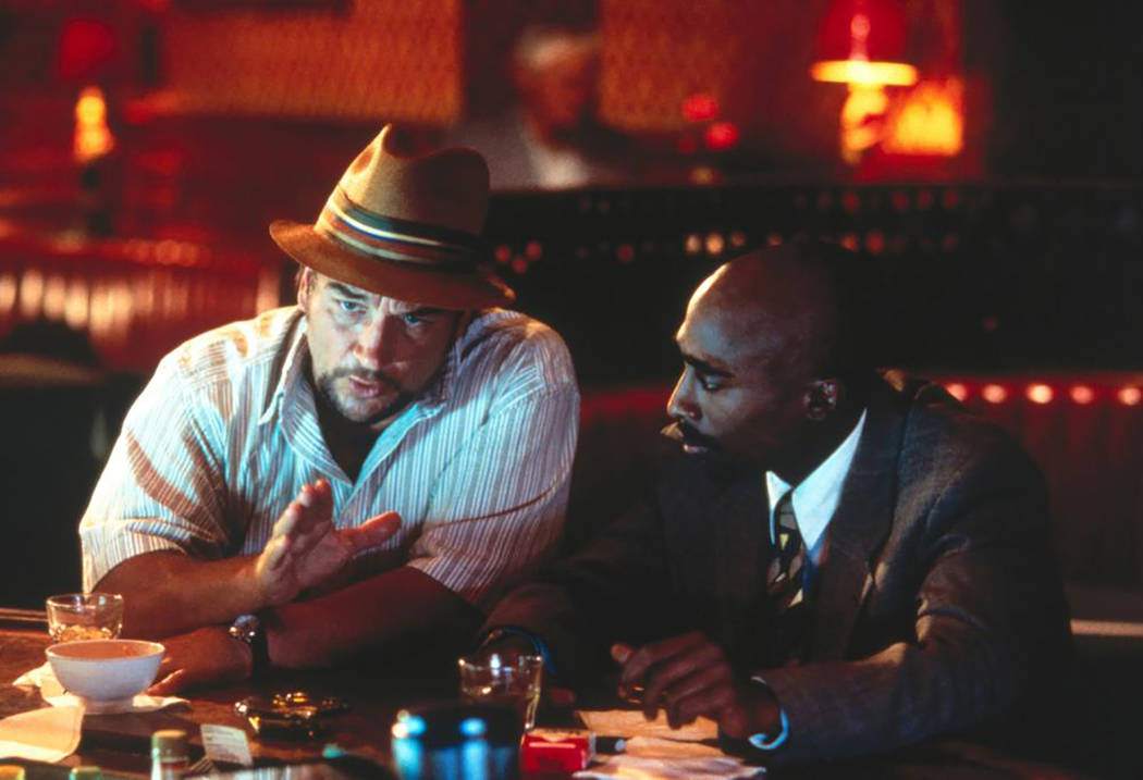 "Jim Belushi and Tupac Shakur in ""Gang Related"" (Orion Pictures)"