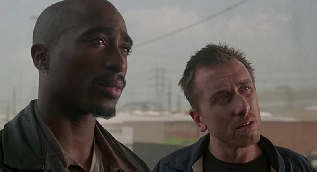 "Tupac Shakur and Tim Roth in ""Gridlock'd."" (Gramercy Pictures)"