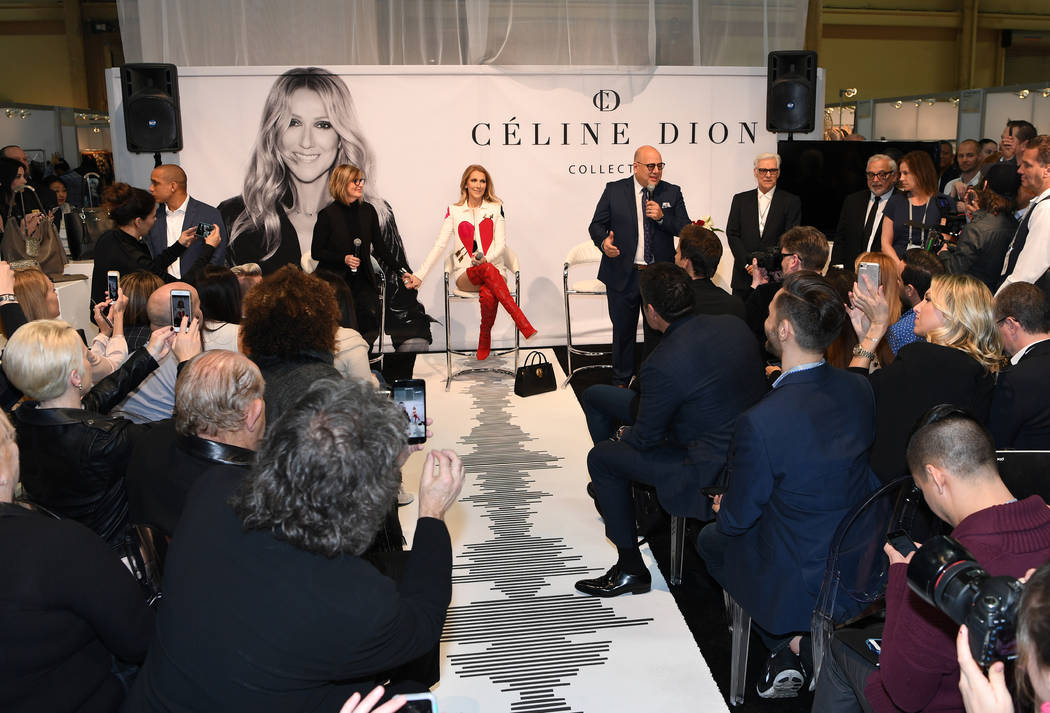 Denis Turscello Celine Dion at her Feb. 21 purse launch.