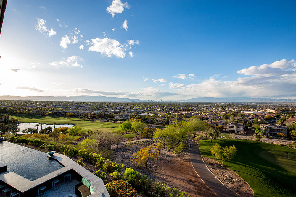 The home has a view of the Las Vegas Valley. (Luxury Estates International)