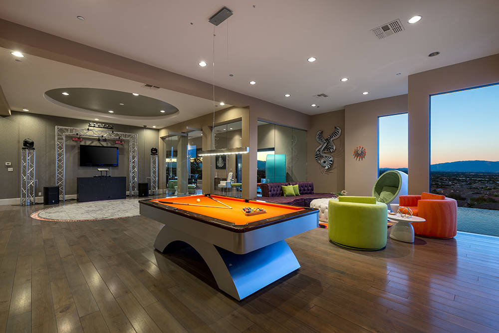 The downstairs entertainment floor has many game rooms. (Luxury Estates International)