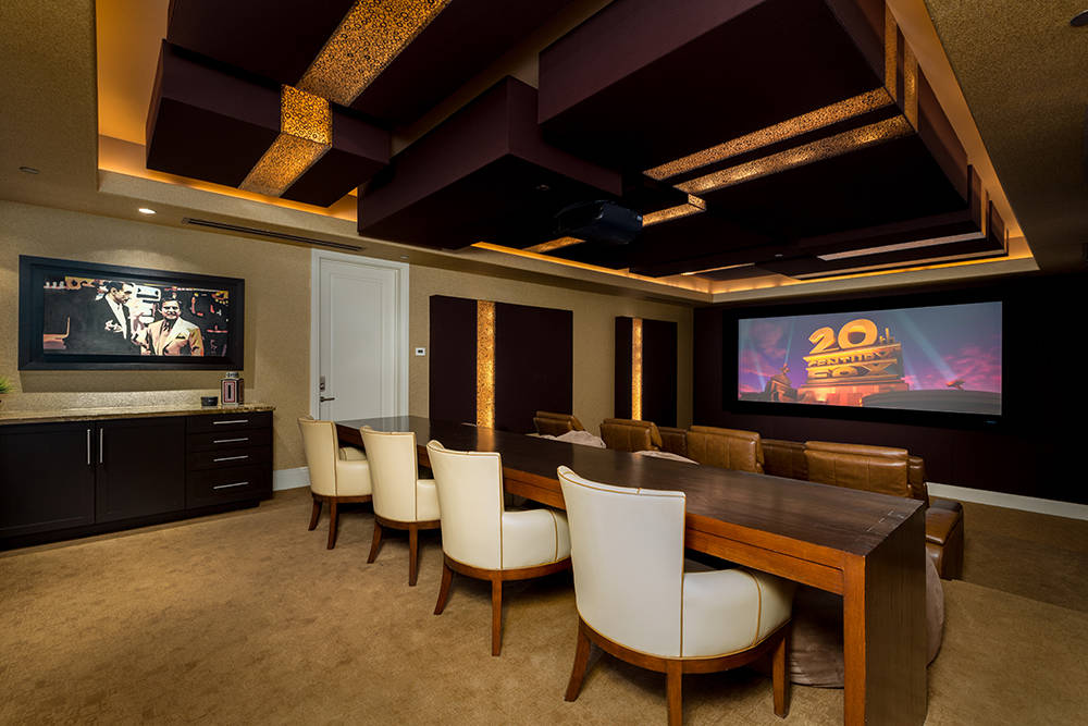 The home theater is on the upper floor. (Luxury Estates International)