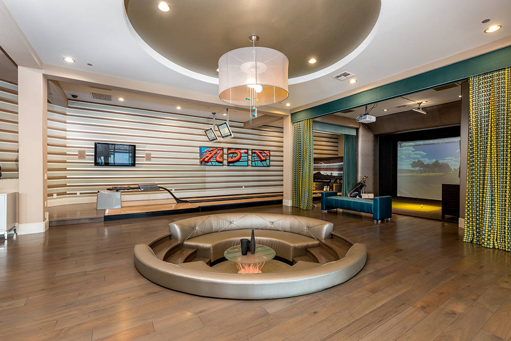 The home has its own $4 million game floor. (Luxury Estates International)