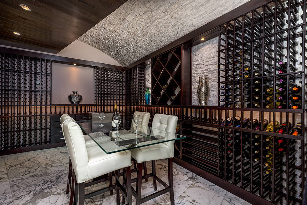 The wine room is on the lower level. (Luxury Estates International)