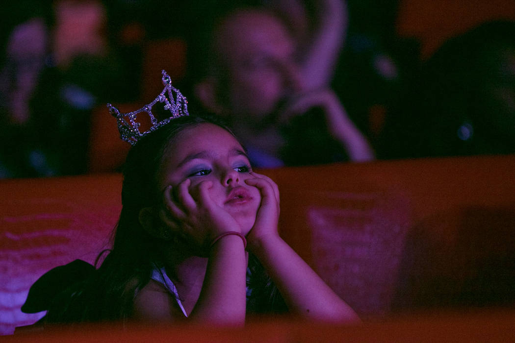 Maiah Maile, 8 years old, observes the 2017 Miss Nevada pageant at Tropicana hotel-casino on Friday, June 16, 2017, in Las Vegas. Morgan Lieberman Las Vegas Review-Journal