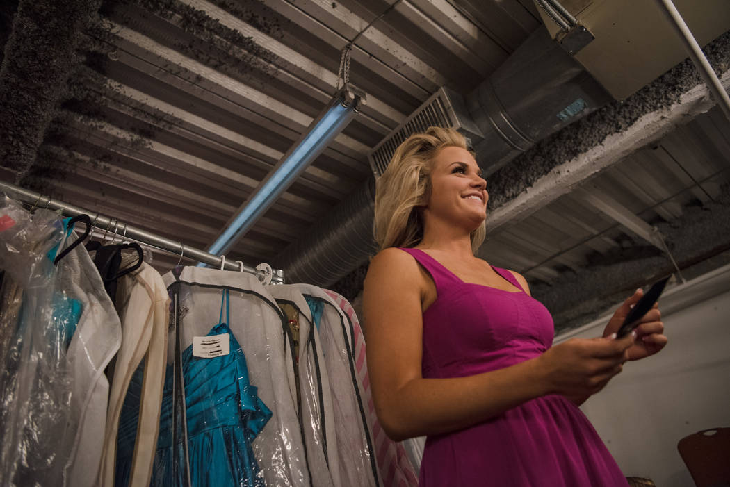 Briana Neben, Miss Douglas County 2017, in the dressing room before the 2017 Miss Nevada pageant at Tropicana hotel-casino on Friday, June 16, 2017, in Las Vegas. Morgan Lieberman Las Vegas Review ...