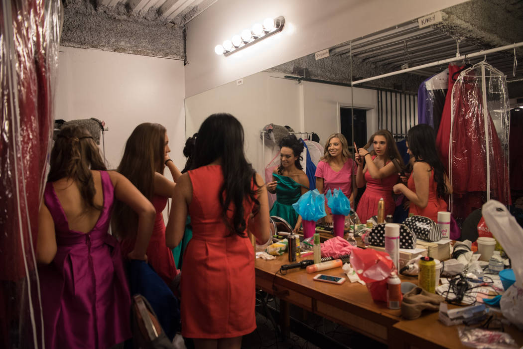 Preparing for the spotlight in the dressing room before the 2017 Miss Nevada pageant at Tropicana hotel-casino on Friday, June 16, 2017, in Las Vegas. Morgan Lieberman Las Vegas Review-Journal