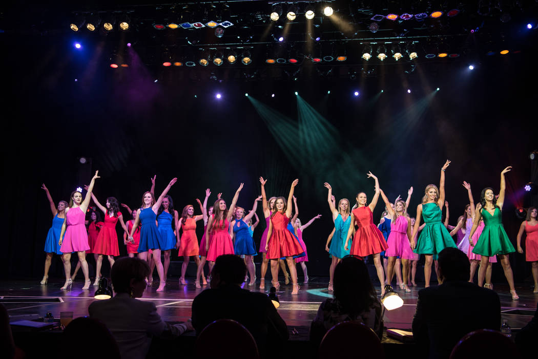The opening number for the 2017 Miss Nevada pageant at Tropicana hotel-casino on Friday, June 16, 2017, in Las Vegas. Morgan Lieberman Las Vegas Review-Journal