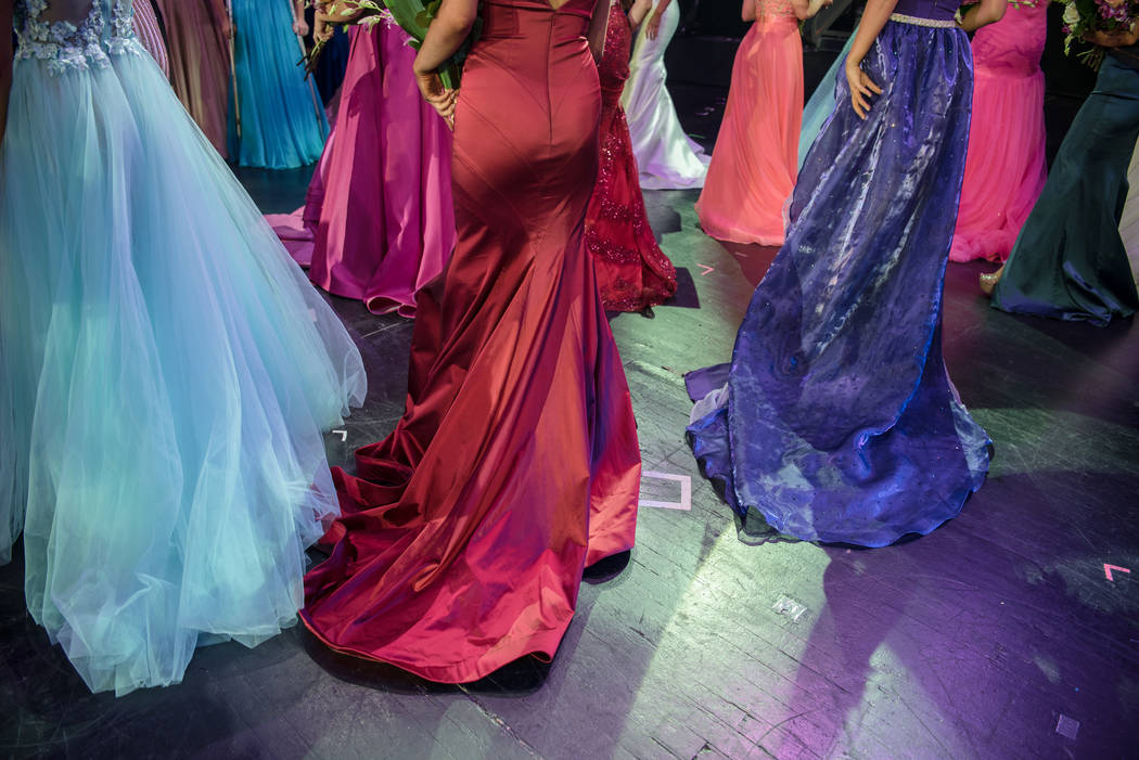 Contestants exit the stage at the 2017 Miss Nevada pageant at Tropicana hotel-casino on Friday, June 16, 2017, in Las Vegas. Morgan Lieberman Las Vegas Review-Journal