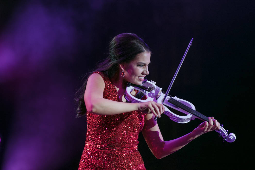 Macie Tuell, Miss Carson City 2017, performed with her electric violin for the 2017 Miss Nevada pageant at Tropicana hotel-casino on Friday, June 16, 2017, in Las Vegas. Morgan Lieberman Las Vegas ...