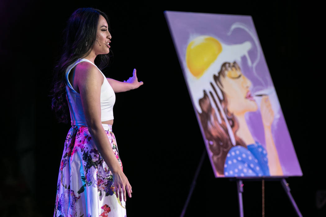 Ivory Rok, Miss Mount Rose 2017, performed a monologue of a poem she wrote about breakfast, at the 2017 Miss Nevada pageant at Tropicana hotel-casino on Friday, June 16, 2017, in Las Vegas. Morgan ...