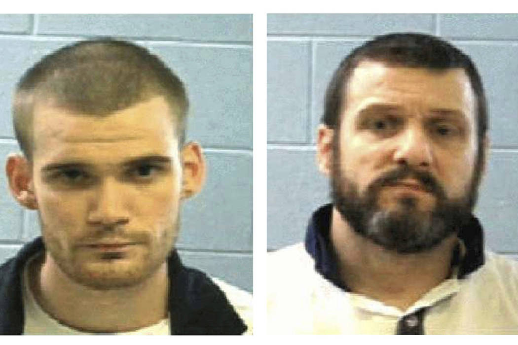 This combo of undated photos provided Tuesday, June 13, 2017, by the Georgia Department of Corrections shows inmate Ricky Dubose, left, and Donnie Russell Rowe.  (Georgia Department of Corrections ...