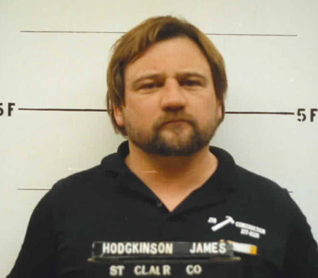 This 1992 photo provided by the St. Clair County. Ill., Sheriff's Department shows James T. Hodgkinson. Officials said Hodgkinson has been identified as the man who opened fire on Republican lawma ...