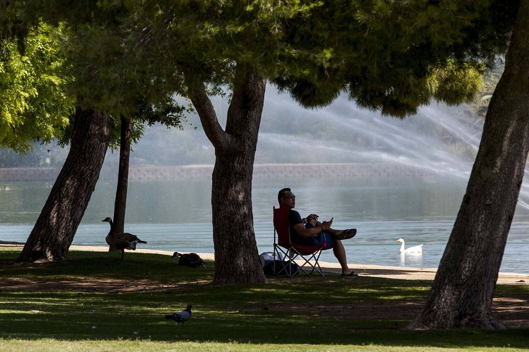 Temperatures should reach 99 degrees in the Las Vegas Valley on Wednesday. (Patrick Connolly Las Vegas Review-Journal) @PConnPie