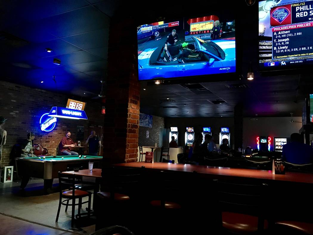 While the interior is still under construction, The Tavern still has plenty of entertainment options including gambling, billiards, darts and plenty of television screens. (Madelyn Reese/View) @Ma ...