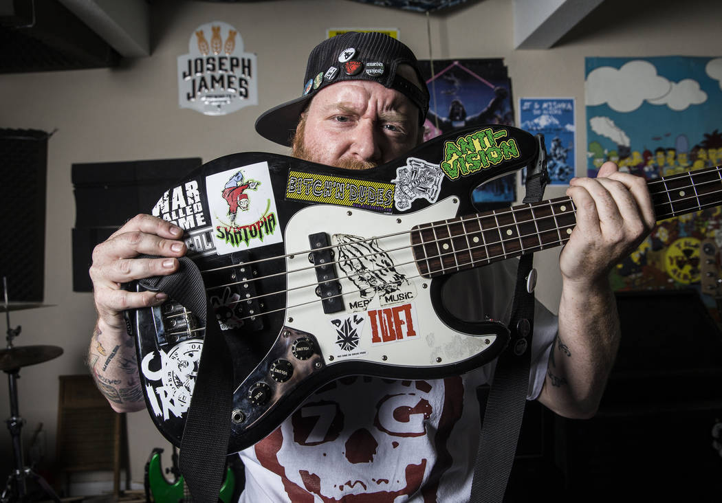 Cody Leavitt is considered the godfather of Vegas punk, mentoring young bands and allowing them to record in his studio. Photo taken on Wednesday, June 14, 2017, at Leavitt's home, in Las Vegas. B ...