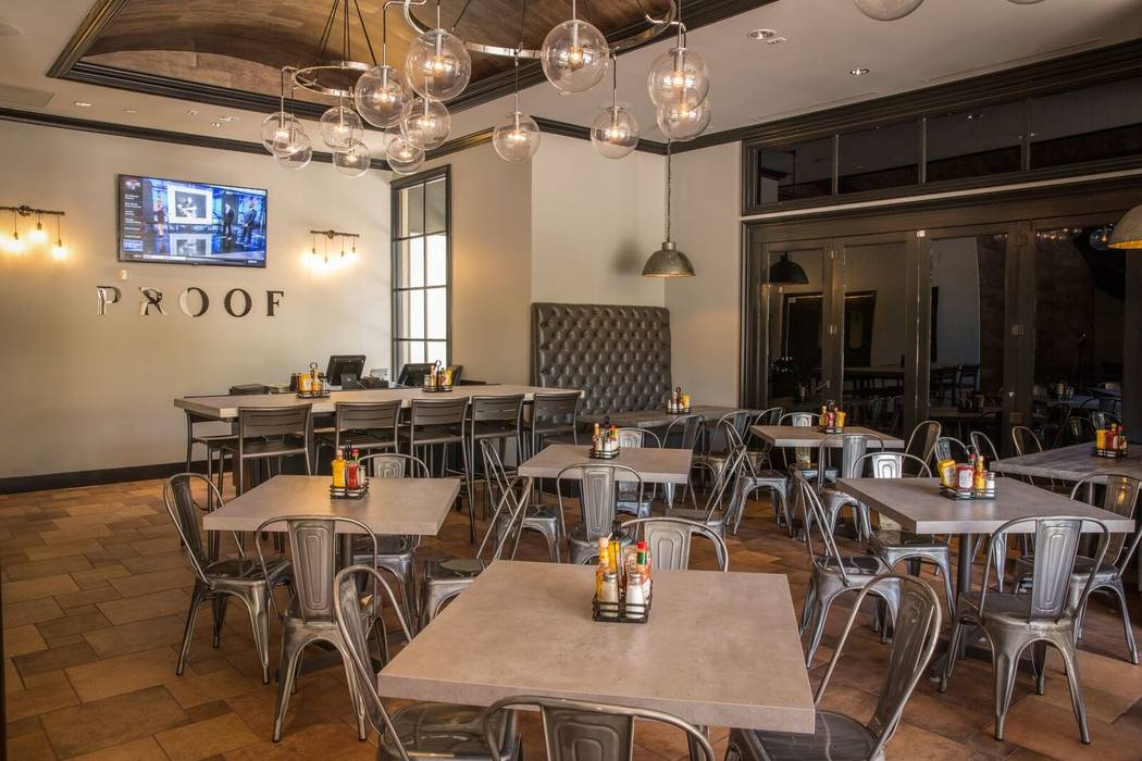Seating at proof tavern includes a main dining room and large patio, as well as a private event space on the second floor. (Jon Littleton/Proof Tavern)