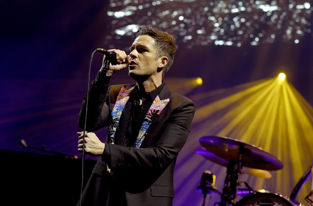 Brandon Flowers of The Killers performs onstage during the grand opening of T-Mobile Arena on April 6, 2016 in Las Vegas, Nevada. (Kevin Winter/Getty Images for ABA)