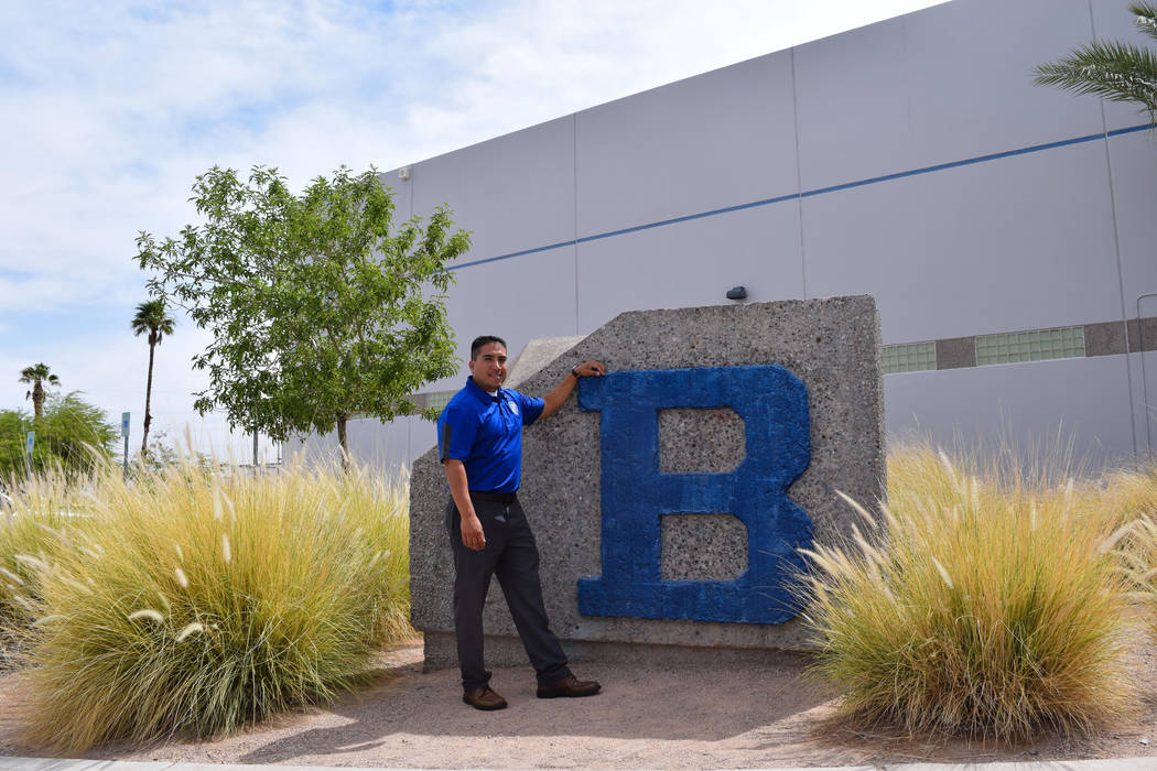 Gerald Bustamante was an average student on the baseball team when he graduated from Basic High School in 1994. Now he's the principal. (Alex Meyer/View) @alxmey