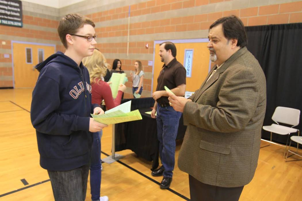 """Lopez's """"legacy project"""" was NV Energy's partnership with local high schools for the I CAN BE program, for which NV Energy rallies up to 45 business volunteers from different backgrounds and acqua ..."""