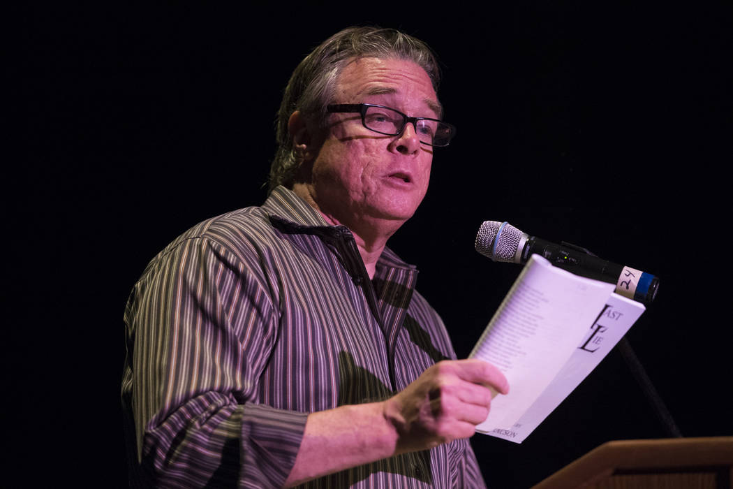 "Poet Bruce Isaacson during a book release party at the Winchester Cultural Center on Saturday, June 17, 2017 in Las Vegas. The new poetry anthology, ""Clark: Poetry from Clark County Nevad ..."