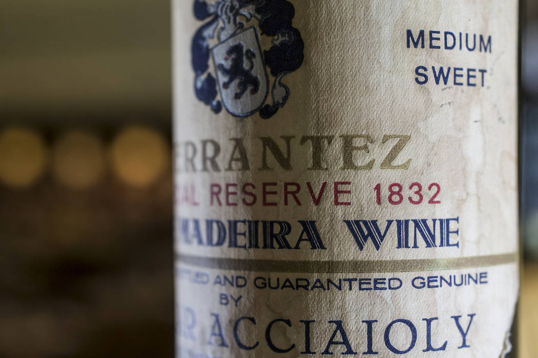 Aureole offers the largest selection of wines in Las Vegas, with over 2500 bottles in their four-story wine tower, including a rare collection of madeiras. Photo taken on Wednesday, June 14, 2017, ...