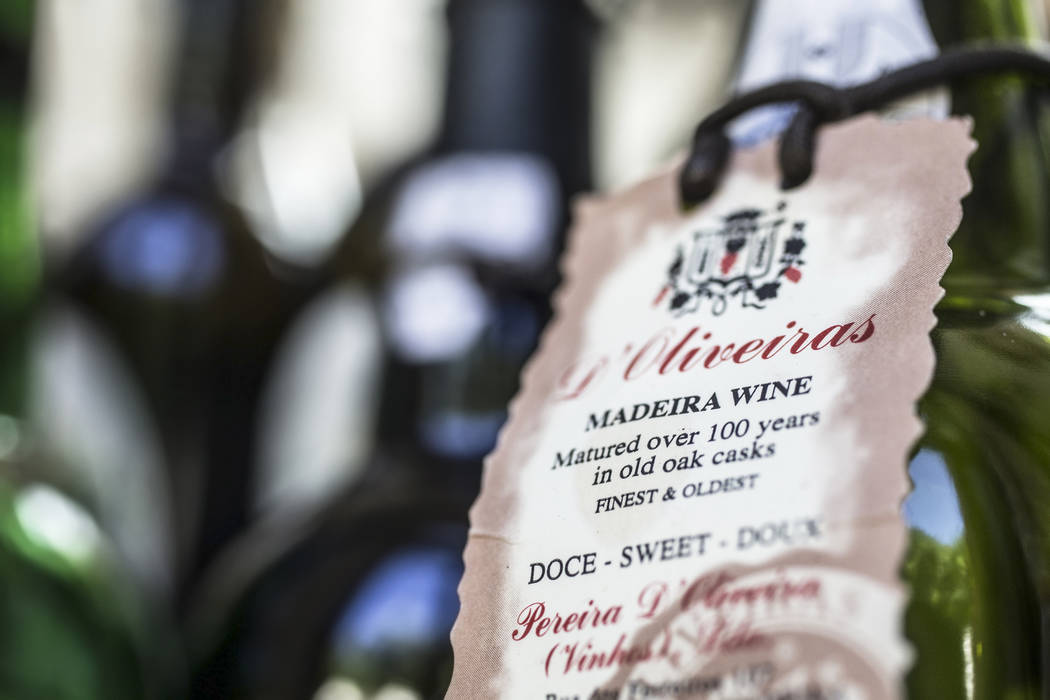 Vintage bottles of Madeiras at Costa di Mare, on Wednesday, June 14, 2017, at the Wynn hotel-casino, in Las Vegas. Benjamin Hager Las Vegas Review-Journal @benjaminhphoto