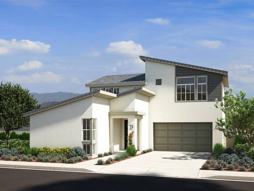 Pardee Homes' Pivot will open June 24. Shown is an artists' rendering of the Contemporary elevation of Pivot Plan Four. (Courtesy)