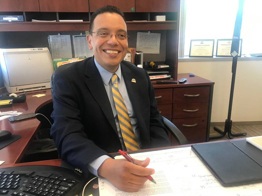 Alfredo Melesio Jr., North Las Vegas director of land development and community services, in his office at City Hall, 2250 N. Las Vegas Blvd. (Kailyn Brown/View) @KailynHype
